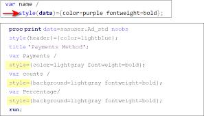 Solved: set header color - SAS Support Communities