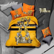 100 cotton cartoon optimus prime blebee transformers bedding set fashion 3 bed set duvet cover bed sheet home textile with 307 74 piece on