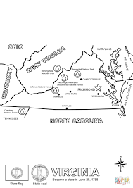 Small Picture Virginia State Map coloring page Free Printable Coloring Pages