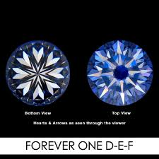 Facets Def 9 0mm 2 7carat 58 Facets Heart And Arrows Moissanites Loose