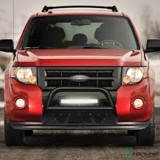 Ford Escape Light Bar Details About Topline For 2008 2012 Escape Textured Blk Studded Mesh Bull Guard 120w Led Bars