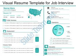 job interview template job interview presentation template visual resume template for job
