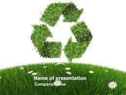 Recycling Symbol Powerpoint Template Backgrounds 03397