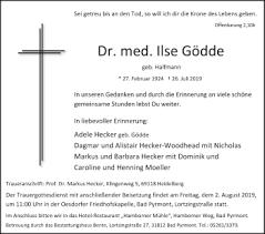 Trauerportal Der Deister Und Weserzeitung