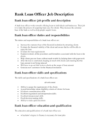 Loan Officer Job Description