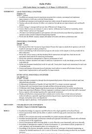 Industrial Engineer Resume Sample Industrial Engineer Resume Samples Velvet Jobs 2