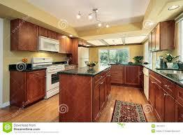 Kitchen Granites Kitchen With Black Granite Counters Stock Image Image 13672331