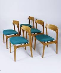 vine danish model 49 dining chairs by erik buch for o d møbler set of 5