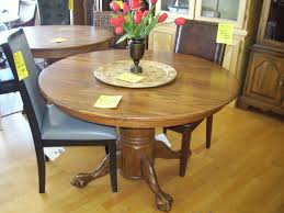 antique round oak dining table and chairs tables