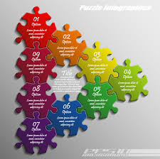 Creative Puzzle Infographic Template Vector Free Vector In