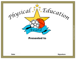 physical education certificates