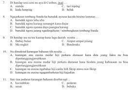 Kumpulan soal pas kelas 4 sd semester 1 ganjil dan kunci jawaban soal pas kelas 4 tema 1 (subtema 1, 2 dan 3) kurikulum 2013 contoh soal di dalamnya antara lain: Soal Pat Kelas 4 B Sunda Semester 2 Genap Soalbagus Com