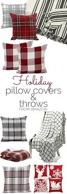 Cute holiday or Christmas pillow covers and throws! Great gift ideas!