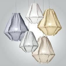 ulus linen pendant light small fixtures linen pendant light