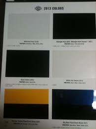 2012 Harley Davidson Color Chart 2013 Color Chart Harley Davidson Forums
