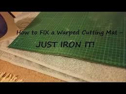 How to Fix a Warped Cutting Mat - YouTube &  Adamdwight.com