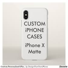 Make Your Own Iphone Case Design Custom Personalized Iphone X Case Blank Template Zazzle