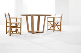 luxury outdoor round table indonesian teak wood luxury furniture for garden and terrace