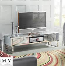 mirror tv stand. image is loading mirrored-tv-cabinet-stand-media-unit-for-flat- mirror tv stand r