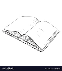 open book sketch icon vector image