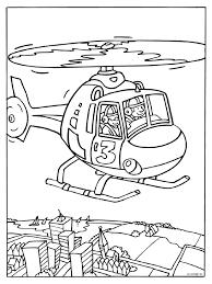 Kleurplaat Helikopter Vliegen Kleurplatennl