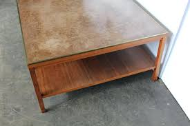 leather top coffee table mid century modern leather top coffee table by for group for antique