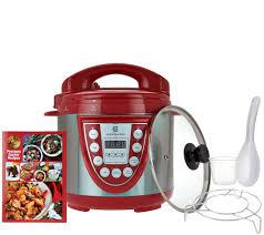 Essential Kitchen Appliances Cooks Essentials 4qt Ss Digital Pressure Cooker W Glass Lid