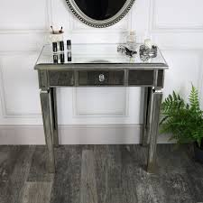 one drawer dressing table mirrored