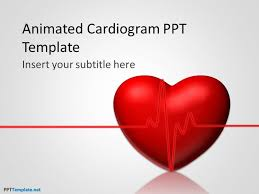 Heart Powerpoint Templates Free Animated Cardiogram Ppt Template
