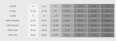 Heist Studios Size Chart I Love Hosiery