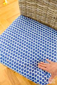 how to attach a chair cushion without using ties