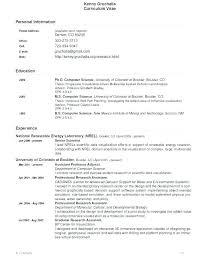 Scientific Resume Template