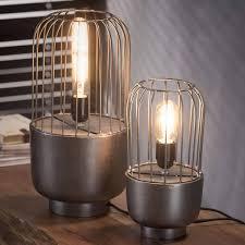 Zes10 Collectie Draadstaal Tafellamp ø15cm Zwart Nikkel