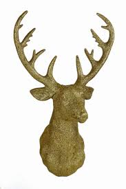 Christmas Decorations For The Wall Premier Decorations Wall Mounted 34cm Glitter Reindeer Head