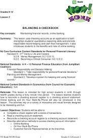Balancing A Checkbook Pdf Free Download