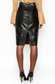 do be leather zip skirt back cropped image