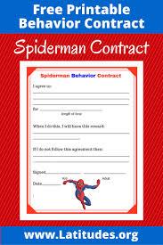 spiderman behavior contract acn latitudes spiderman behavior contract