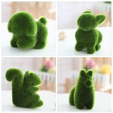 Small animals artificial grass decorations Grass land plants potted