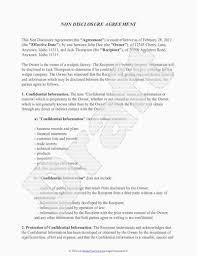 Business Confidentiality Agreement Sample Extraordinary Free Confidentiality Agreement Pdf Awesome Non Disclosure Agreement