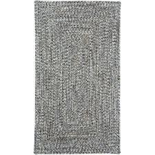 5 x 8 medium smokey quartz gray oval braided indoor outdoor rug sea glass