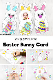 Printable easter cards | free easter card templates, design your own easter cards to print, personalized easter cards, easter party invitations and more. Copy Of Easter Bunny Card For Kids To Make Arty Crafty Kids