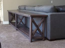 sofa table. Interesting Sofa Extra Long No Middle Shelf Rustic X Console  DIY Projects On Sofa Table P