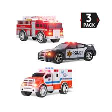 Led Light Toy Car 3 In 1 True Hero Vehicles Kids Toy Cars Play Set 3 Button Led Light Sound Effects Emergency Vehicles Buy Police Toys Fire Truck Toys Led Light