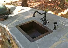 creative home design astounding our copper bar sinks look great in outdoor bbq areas like