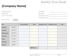 Bi Weekly Time Sheet Weekly Time Card Template