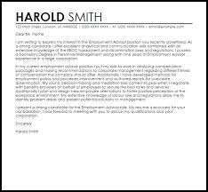 employment letter examples employment advisor cover letter sample cover letter templates