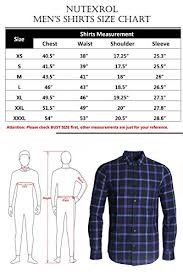 Nutexrol Mens Long Sleeve Plaid Flannel Casual Shirts Checked Button Down Shirts