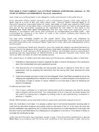 Feati Bank Letter Of Credit Civil Law Legal System
