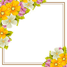 Birthday Flowers Background Design Abstract Background Frame Of Flowers For Design Postcards Greeting Invitation For A Birthday Wedding Party Holiday Celebration For The