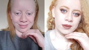 albino makeup transformation